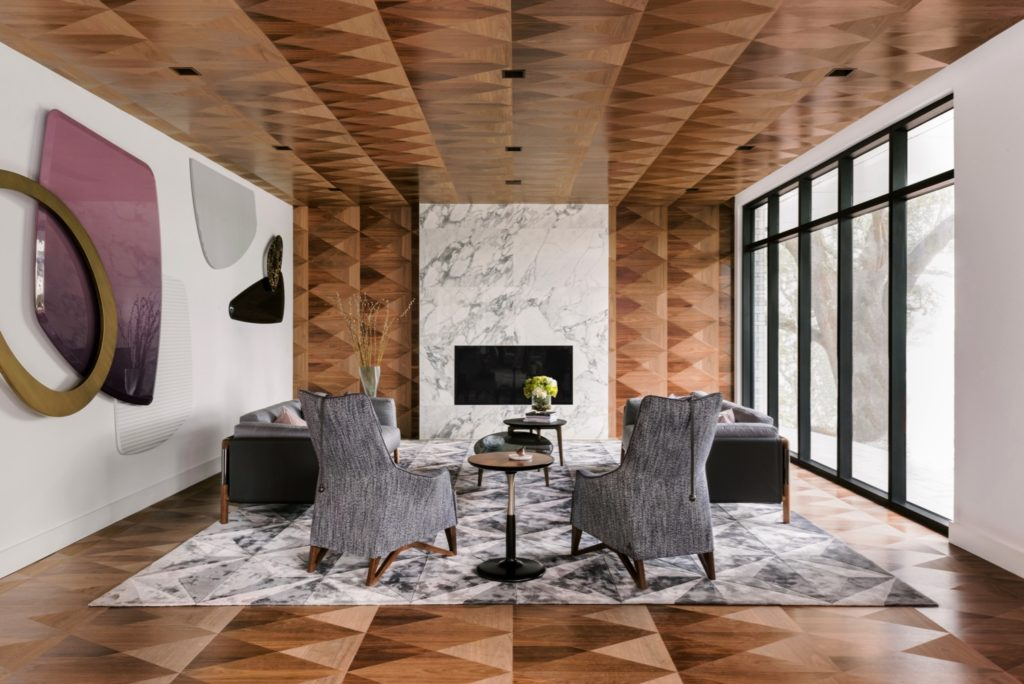 Parrquet Wood Floor Boiserie Giorgetti Houston